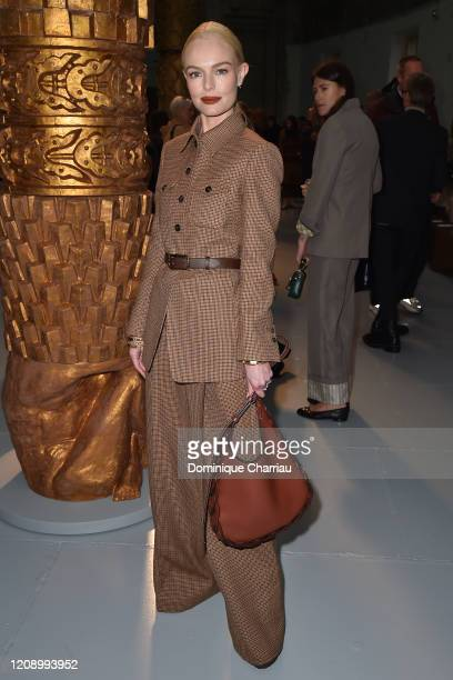Kate Bosworth attends the Chloe show as part of the Paris Fashion Week Womenswear Fall/Winter 2020/2021 on February 27 2020 in Paris France
