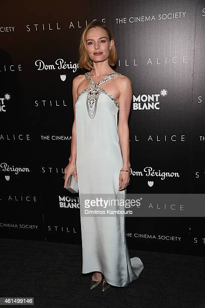 Kate Bosworth attends The Cinema Society with Montblanc and Dom Perignon screening of Sony Pictures Classics' Still Alice at Landmark's Sunshine...
