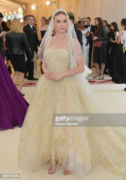 Kate Bosworth attends the Heavenly Bodies Fashion The Catholic Imagination Costume Institute Gala at The Metropolitan Museum of Art on May 7 2018 in...