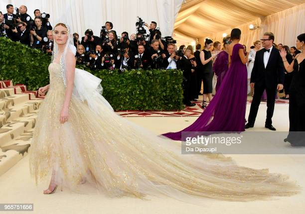 Kate Bosworth attends the Heavenly Bodies: Fashion & The Catholic Imagination Costume Institute Gala at The Metropolitan Museum of Art on May 7, 2018...