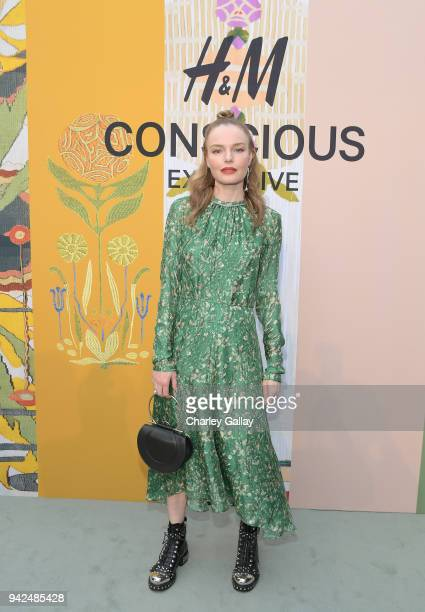 Kate Bosworth attends the HM celebration of 2018 Conscious Exclusive collection at John Lautner's Harvey House on April 5 2018 in Los Angeles...