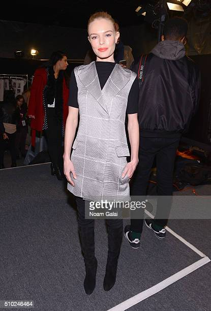 Kate Bosworth attends the Noon By Noor Fall 2016 fashion show during New York Fashion Week The Shows at The Dock Skylight at Moynihan Station on...