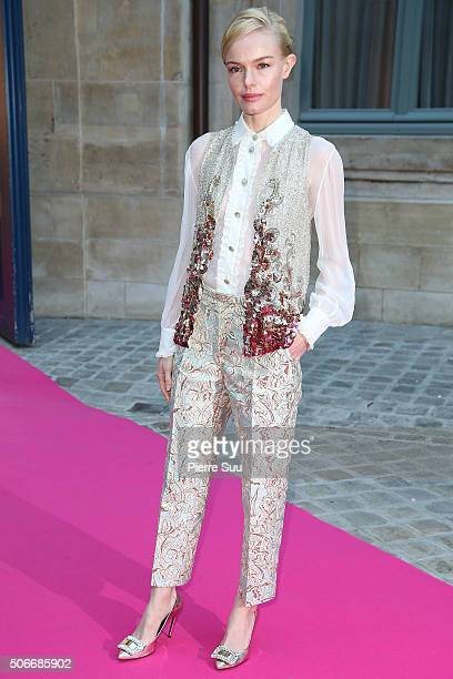 Kate Bosworth attends the Schiaparelli Haute Couture Spring Summer 2016 show as part of Paris Fashion Week on January 25 2016 in Paris France