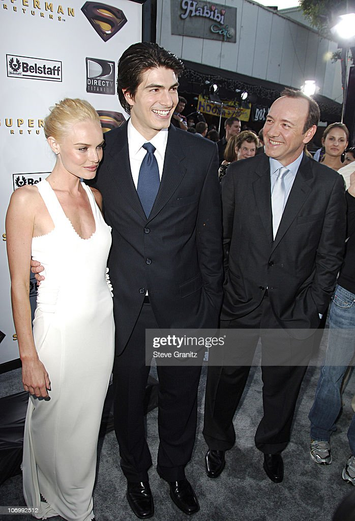 Kate Bosworth, Brandon Routh and Kevin Spacey during World Premiere of 'Superman Returns' - Arrivals at Mann's Village and Bruin Theaters in Westwood, California, United States.