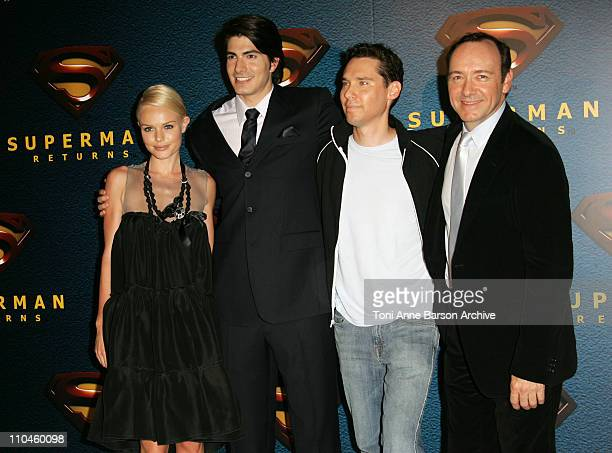 Kate Bosworth Brandon Routh Bryan Singer and Kevin Spacey