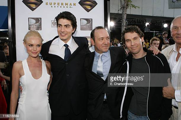Kate Bosworth Brandon Routh Kevin Spacey and Director Bryan Singer