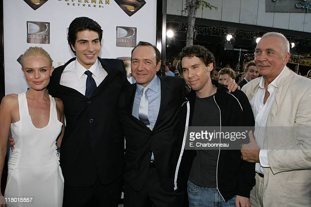 Kate Bosworth Brandon Routh Kevin Spacey Director Bryan Singer and Frank Langella