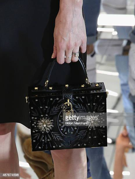 Kate Bosworth, clutch detail, attends House of Gant Presentation during Spring 2016 New York Fashion Week on September 10, 2015 in New York City.