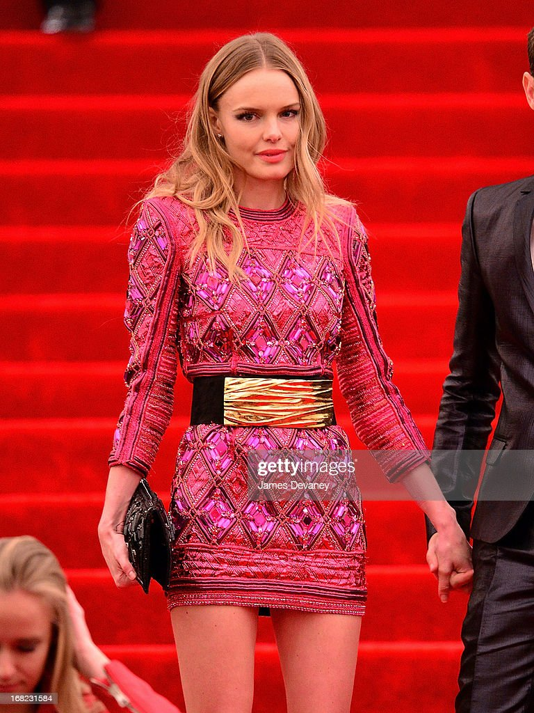 Kate Bosworth departs the Costume Institute Gala for the 'PUNK: Chaos to Couture' exhibition at the Metropolitan Museum of Art on May 6, 2013 in New York City.