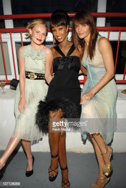 Kate Bosworth Iman and Helena Christensen during 2007 Food Bank of New York CanDo Awards Dinner Honoring The Edge and Jimmy Fallon Green Room at...