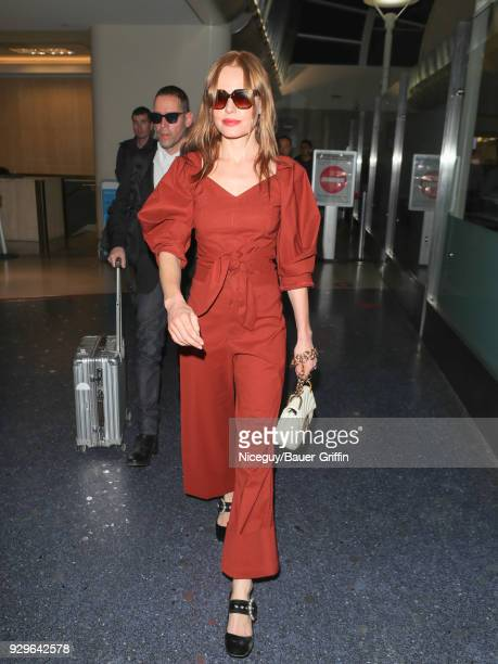 Kate Bosworth is seen at Los Angeles International Airport on March 08 2018 in Los Angeles California