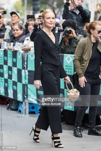 Kate Bosworth is seen leaving AOL Build on November 6 2017 in New York New York