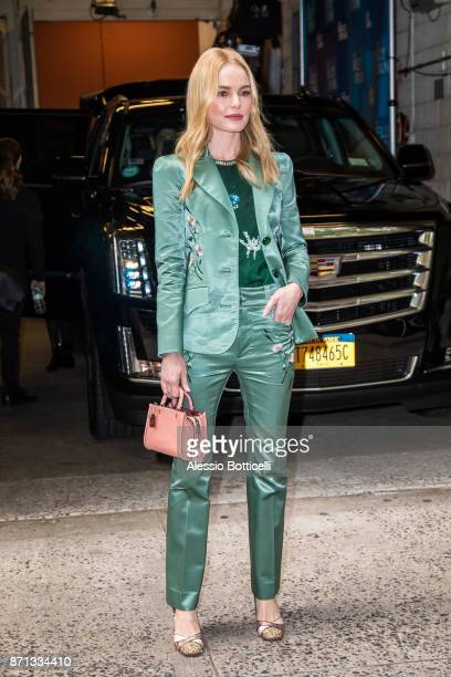 Kate Bosworth is seen leaving 'Live With Kelly And Ryan' TV Show on November 7 2017 in New York New York