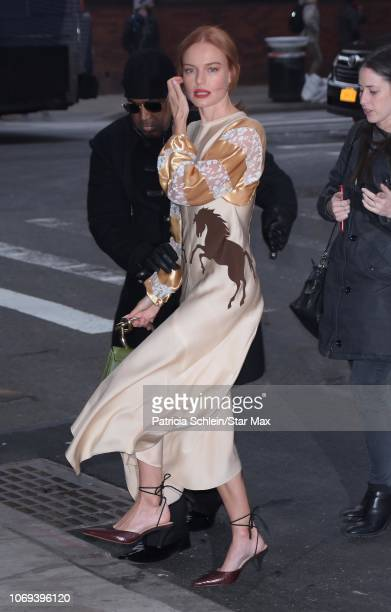 Kate Bosworth is seen on December 6, 2018 in New York City.