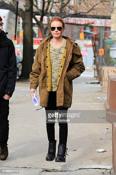 Kate Bosworth is seen on location in Manhattan for 'Still Alice' on March 4 2014 in New York City