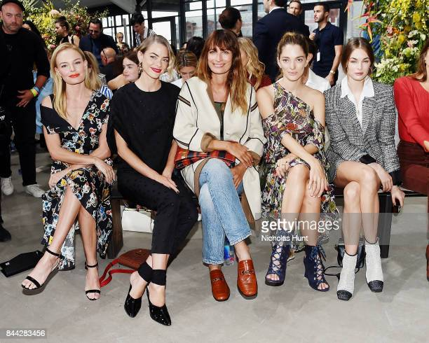 Kate Bosworth Jamie King Caroline de Maigret Sofa Sanchez de Betak and Laura Love attend the Jason Wu fashion show during New York Fashion Week on...