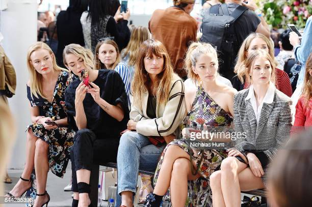 Kate Bosworth Jamie King Caroline de Maigret Sofa Sanchez de Betak and Laura Love attend the Jason Wu fashion show during New York Fashion Week on...