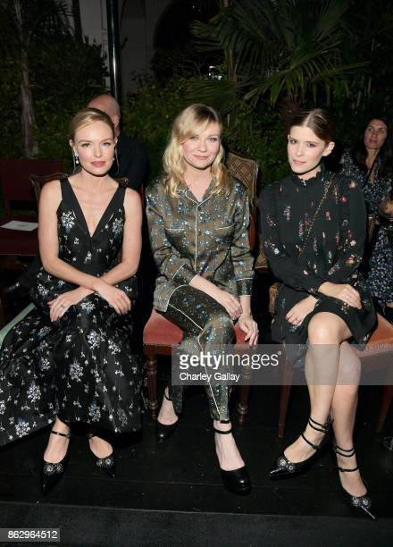 Kate Bosworth Kirsten Dunst and Kate Mara at HM x ERDEM Runway Show Party at The Ebell Club of Los Angeles on October 18 2017 in Los Angeles...