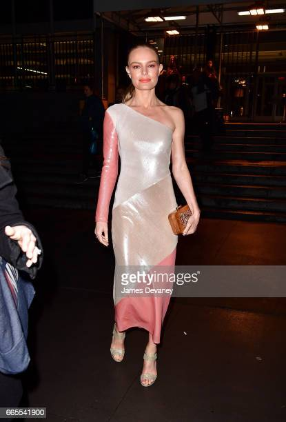 Kate Bosworth leaves the 2017 DVF Awards at United Nations Headquarters on April 6 2017 in New York City