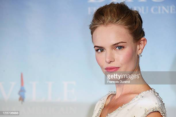 Kate Bosworth poses at the photocall for the 'Another Happy Day' Photocall during the 37th Deauville Film Festival on September 4 2011 in Deauville...