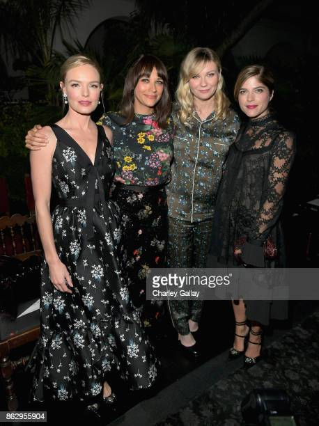 Kate Bosworth Rashida Jones Kirsten Dunst and Selma Blair at HM x ERDEM Runway Show Party at The Ebell Club of Los Angeles on October 18 2017 in Los...