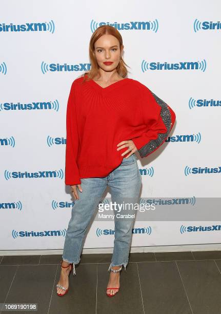 Kate Bosworth visits the SiriusXM Studios on December 6 2018 in New York City