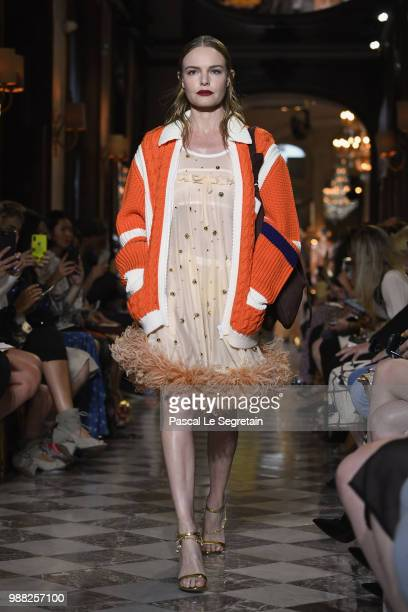 Kate Bosworth walks the runway during Miu Miu 2019 Cruise Collection Show at Hotel Regina on June 30 2018 in Paris France