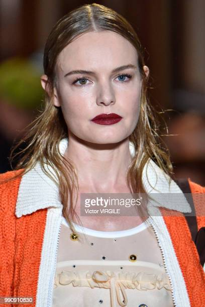 Kate Bosworth walks the runway during the finale of the Miu Miu 2019 Cruise Collection Show at Hotel Regina on June 30 2018 in Paris France