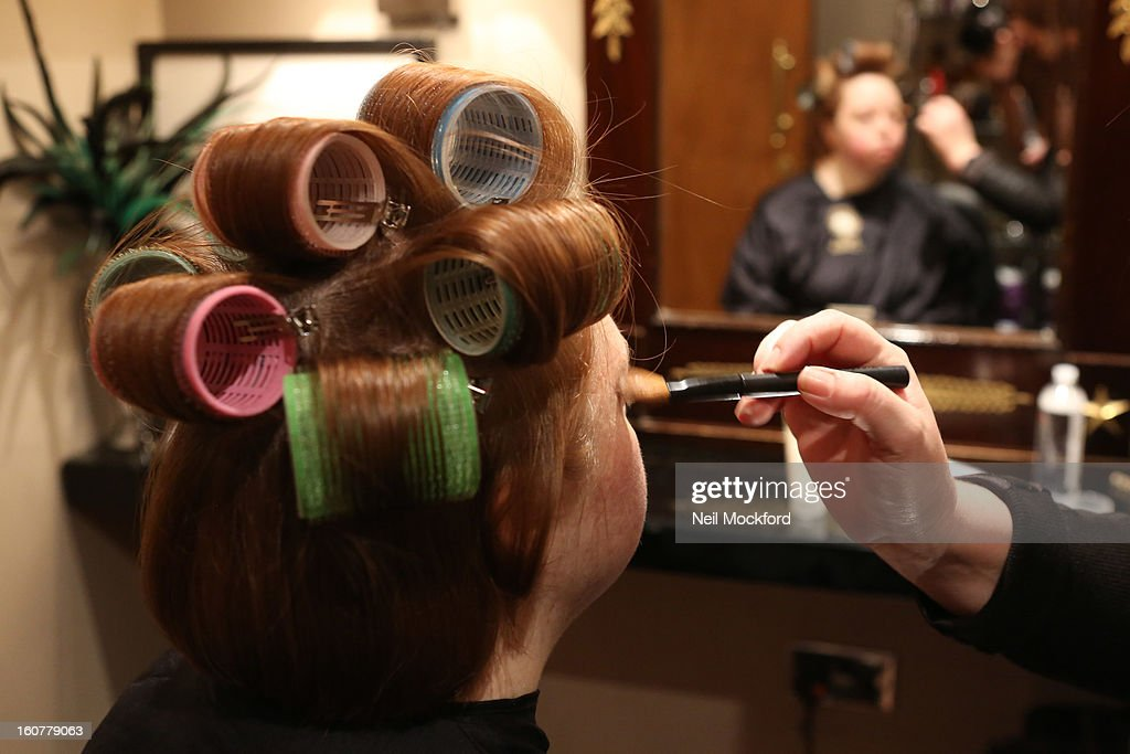 Kate Brackley receives a makeover at Nicky Clarke Hair Salon on February 5, 2013 in London, England.