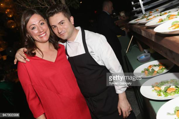 Kate Brashares and Alex Stupak attend Edible Schoolyard NYC 2018 Spring Benefit at 180 Maiden Lane on April 16 2018 in New York City