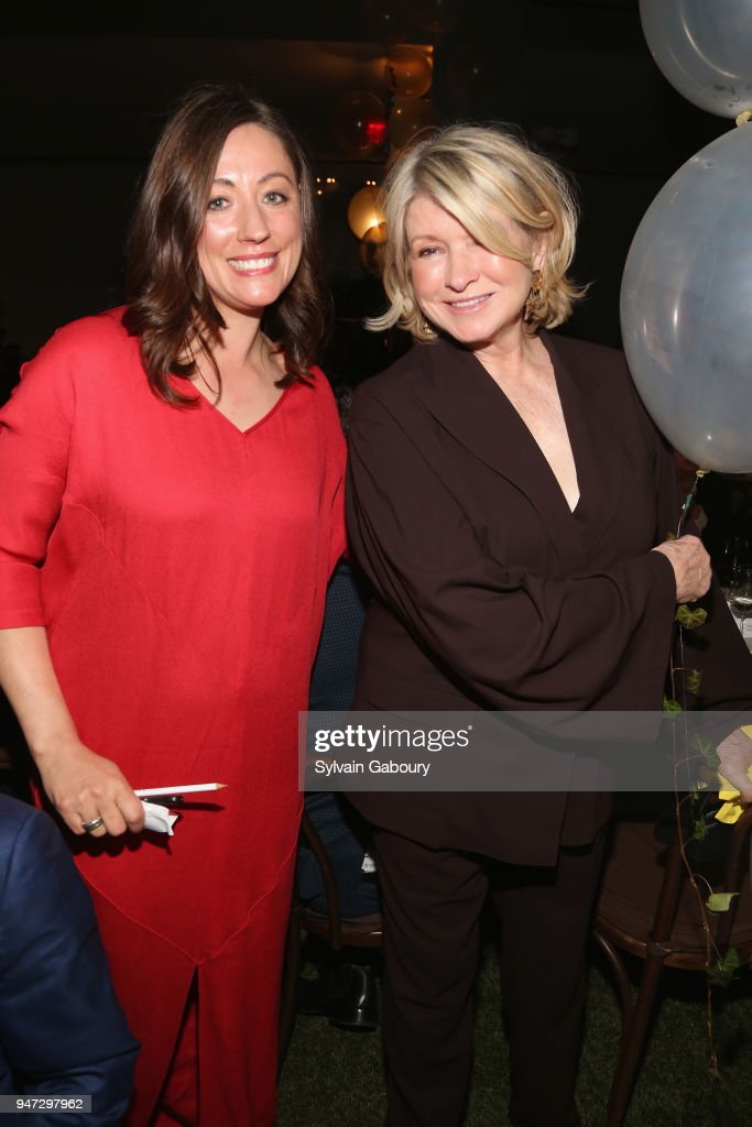 Kate Brashares and Martha Stewart attend Edible Schoolyard NYC 2018 Spring Benefit at 180 Maiden Lane on April 16, 2018 in New York City.