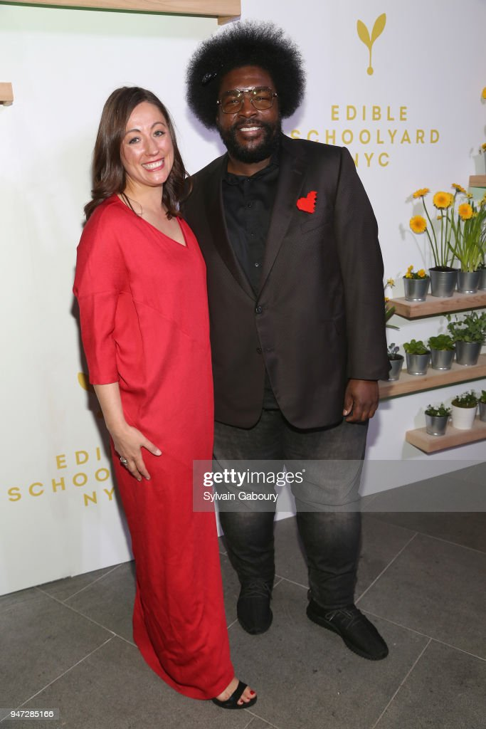 Kate Brashares and Questlove attend Edible Schoolyard NYC 2018 Spring Benefit at 180 Maiden Lane on April 16, 2018 in New York City.