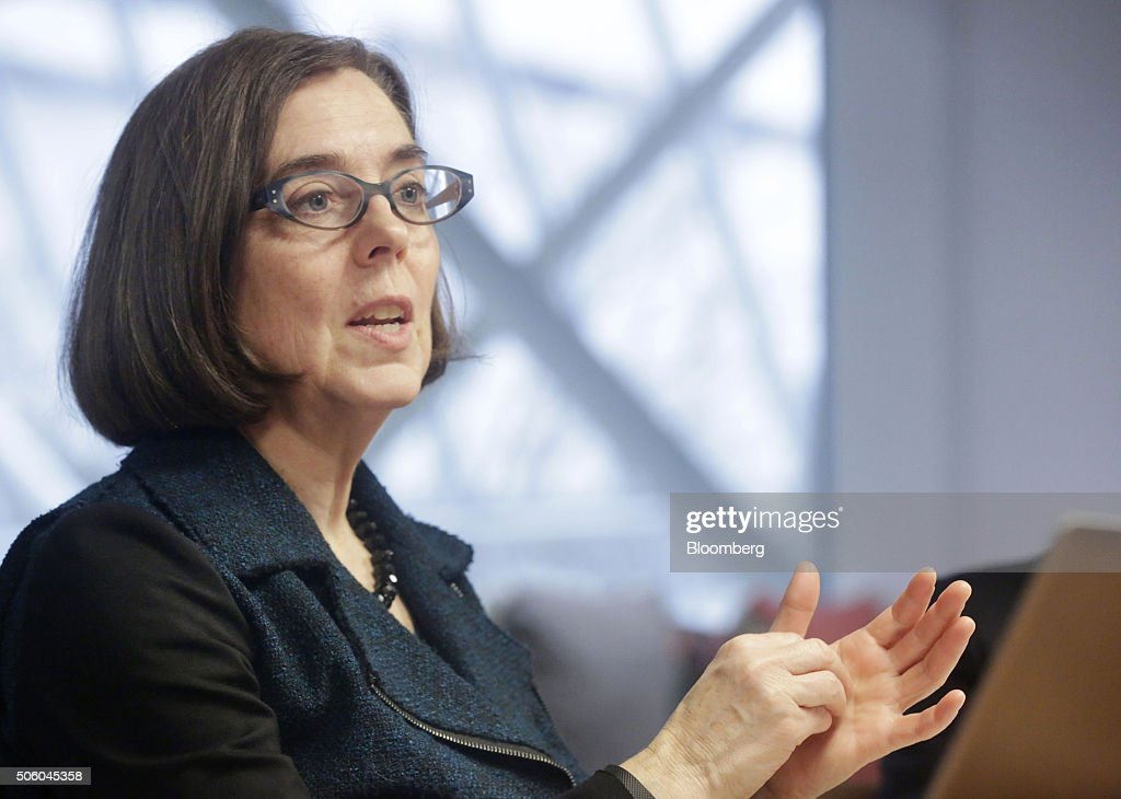 Oregon Governor Kate Brown Interview : News Photo