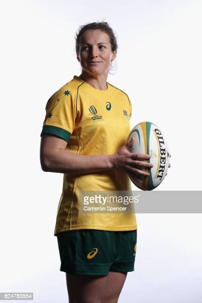 Kate Brown poses during the Wallaroos World Cup Headshots Session at the Sydney Academy of Sport on July 30 2017 in Sydney Australia