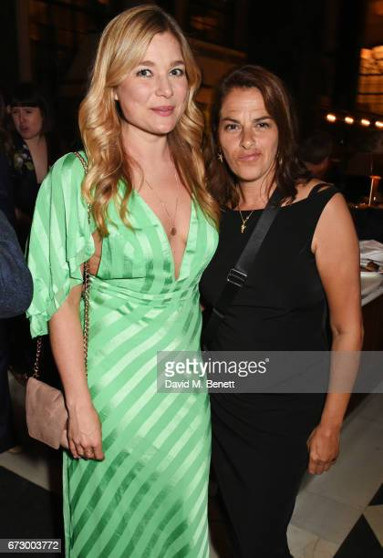 Kate Bryan and Tracey Emin attend a preopening dinner hosted by Kate Bryan at Zobler's Delicatessen at The Ned London on April 25 2017 in London...