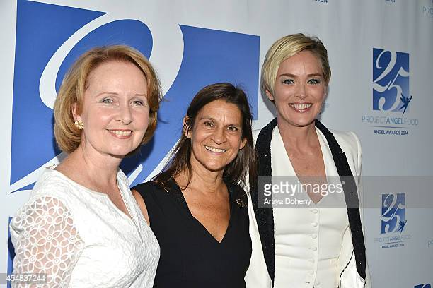 Kate Burton Aileen Getty and Sharon Stone attend the Project Angel Food's 25th Anniversary Angel Awards 2014 honoring Aileen Getty with the Inaugural...