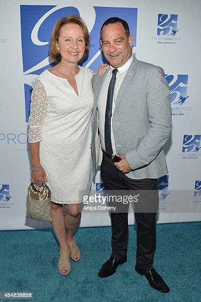 Kate Burton and Joel Goldman attend the Project Angel Food's 25th Anniversary Angel Awards 2014 honoring Aileen Getty with the Inaugural Elizabeth...