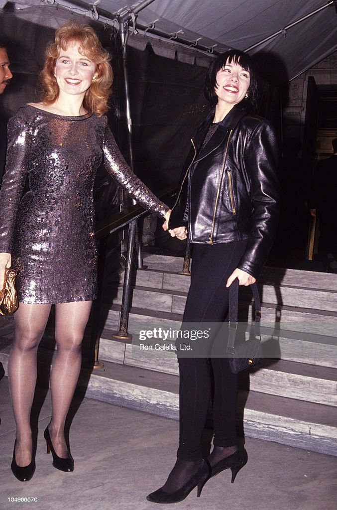 Kate Burton and Kim Cattral during Vogue Magazine 100th Anniversary at New York Public Library in New York City, New York, United States.