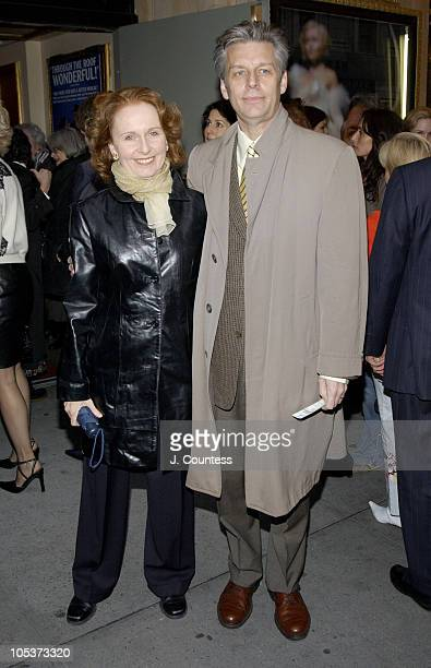 Kate Burton and Michael Ritchie during Opening Night of Jumpers Arrivals at Brooks Atkinson Theater in New York City New York United States
