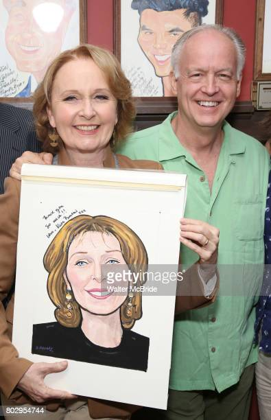 Kate Burton and Reed Birney attend the Sardi's Caricature Unveiling for Kate Burton at Sardi's on June 28 2017 in New York City