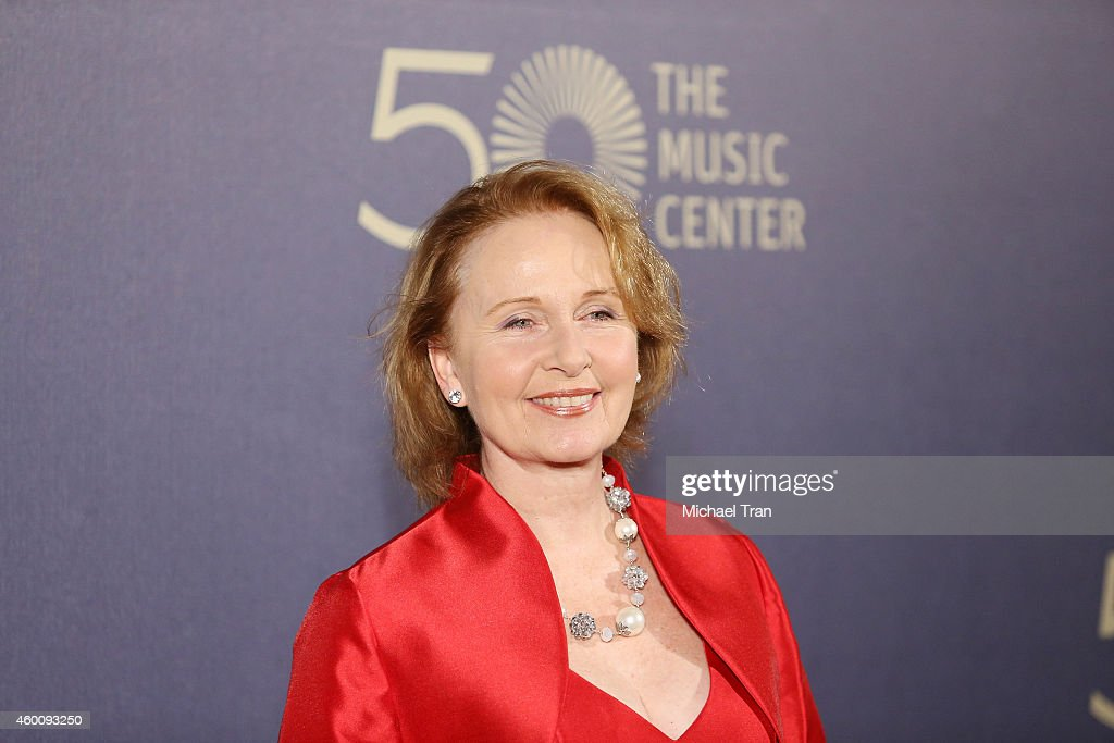 Kate Burton arrives at The Music Center's 50th Anniversary Spectacular held at Dorothy Chandler Pavilion on December 6, 2014 in Los Angeles, California.