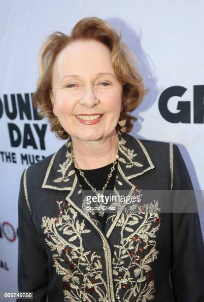 Kate Burton poses at the opening night of the new musical based on the film Groundhog Day on Broadway at The August Wilson Theatre on April 17 2017...