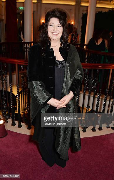 Kate Bush attends a champagne reception at the 60th London Evening Standard Theatre Awards at the London Palladium on November 30 2014 in London...