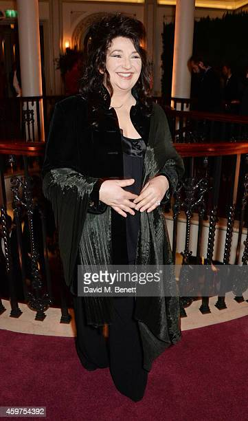Kate Bush attends a champagne reception at the 60th London Evening Standard Theatre Awards at the London Palladium on November 30, 2014 in London,...