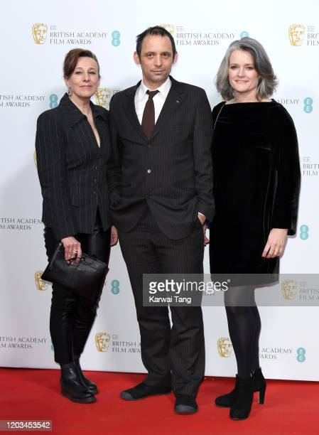 Kate Byers Mark Jenkin and Linn Waite attend the EE British Academy Film Awards 2020 Nominees' Party at Kensington Palace on February 01 2020 in...