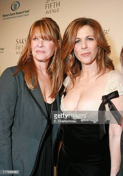 Kate Capshaw and Rita Wilson during Saks Fifth Avenue's Unforgettable Evening Benefitting EIF's Women's Cancer Research Fund Red Carpet at Regent...