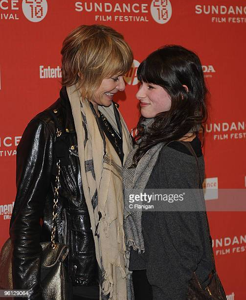 Kate Capshaw and Sasha Spielberg attend The Company Men Premiere during the 2010 Sundance Film Festival at Eccles Center Theatre on January 22 2010...