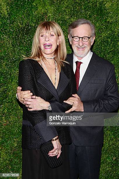 Kate Capshaw and Steven Spielberg at theThe Museum of Modern Art Film Benefit A Tribute to Tom Hanks at The Museum of Modern Art on November 15 2016...