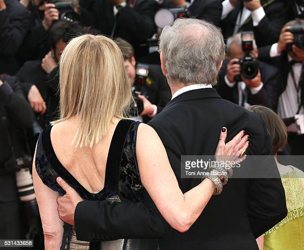 Kate Capshaw and Steven Spielberg attend a screening of The BFG at the annual 69th Cannes Film Festival at Palais des Festivals on May 14 2016 in...