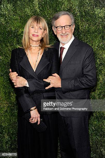 Kate Capshaw and Steven Spielberg attend the 2016 Museum Of Modern Art Film Benefit presented by Chanel A Tribute To Tom Hanks at Museum of Modern...